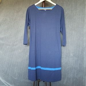NWT Izod Womens Shirt Dress Size Large Navy/Blue